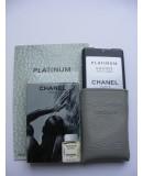 Мини-парфюм в кожаном чехле 20мл. Мужская парфюмированная вода Chanel Egoïste Platinum