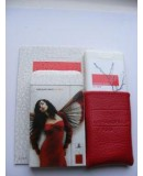 Духи в кожаном чехле. Женская туалетная вода Armand Basi in Red White